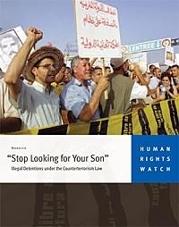 HRW, Pas la peine de chercher votre fils